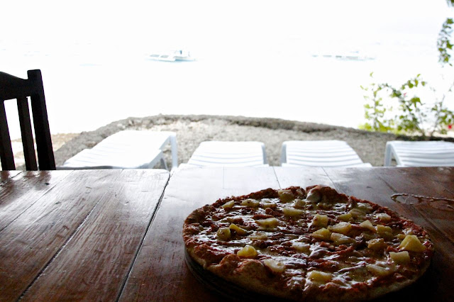 Brickoven Pizza at Tipolo Beach Resort, Cebu Philippines