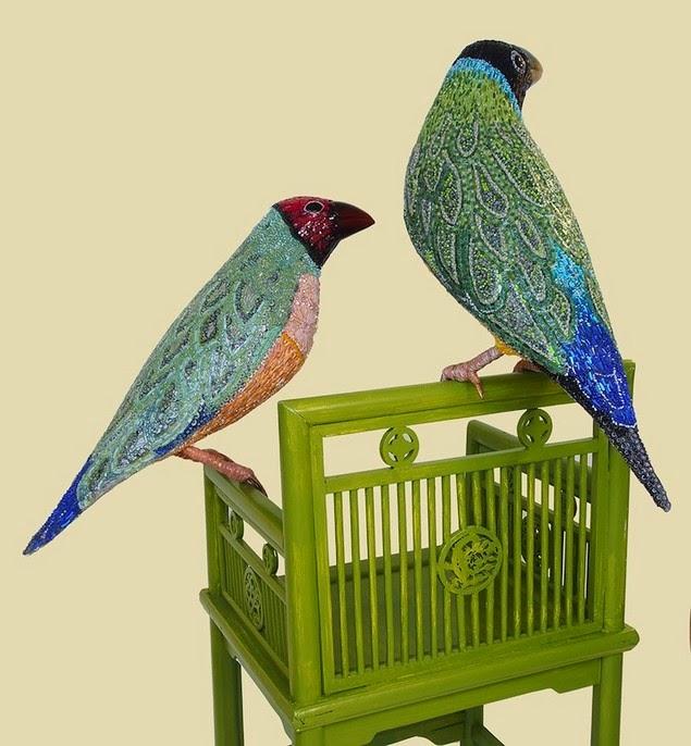 mosaic bird sculptures dusciana bravura-7