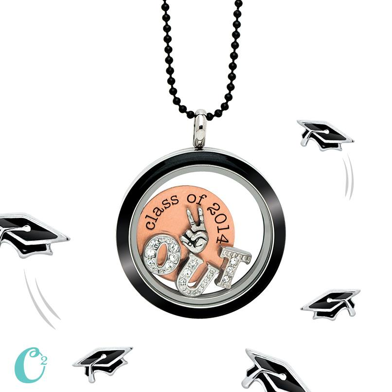 Graduation 2014 Origami Owl Living Locket | Shop StoriedCharms.com