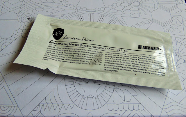 birchbox may review free your mind No4 lumiere d'hiver reconstructing masque