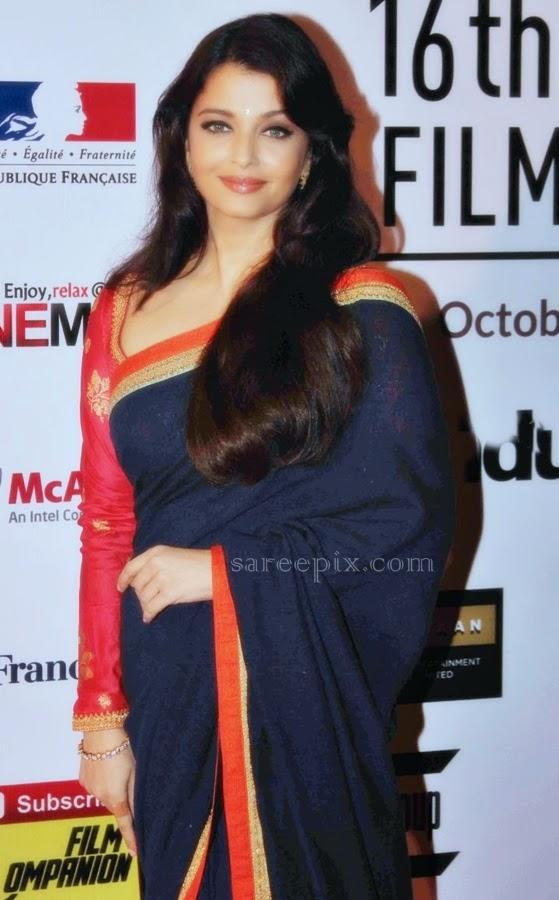 aishawarya-rai-Sabyasachi-saree-16th-mumbai-film-festival