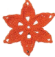 Flor de seis puntas naranja