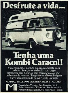 propaganda Kombi Caracol - Minimax - 1978