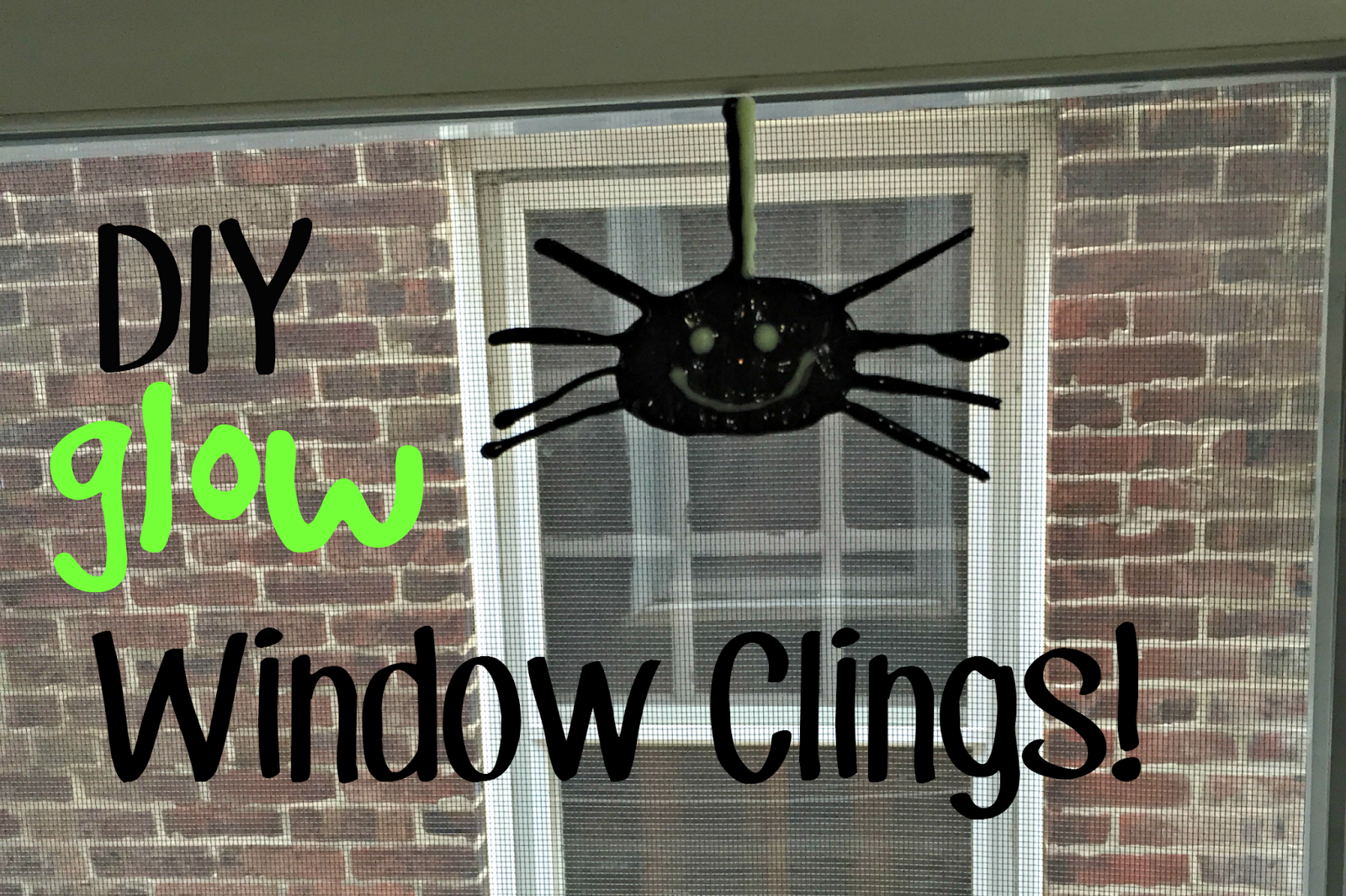 Diy Glow In The Dark Halloween Window Clings My Mini