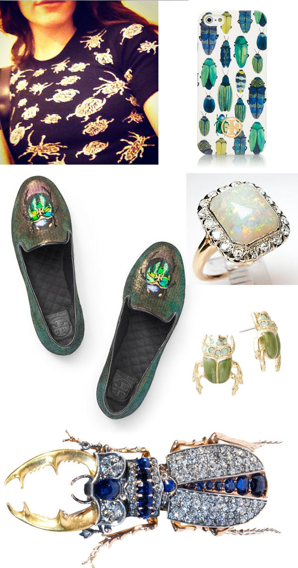 2014 Spring/Summer fashion trends. Emerald, bugs, beetles, 60s, mod