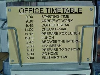 Funny Picture Of Office Timetable In India.