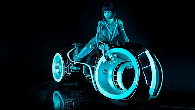 tron movie sexy girl and bike  wallpaper
