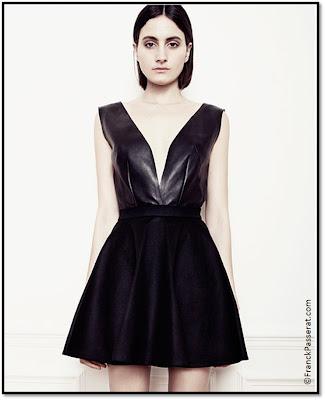 LPR robe noir bi-matière cuir Franck Passerat MarieLuvPink Cannes 2013 Collection zéro