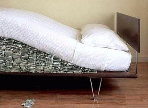 money under the mattress