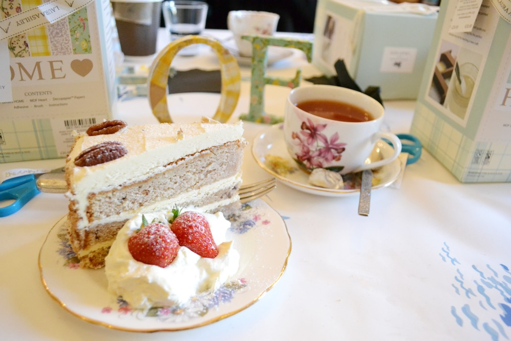 tea and cake vintage china butterfly and the pig craft afternoon laura ashley glasgow