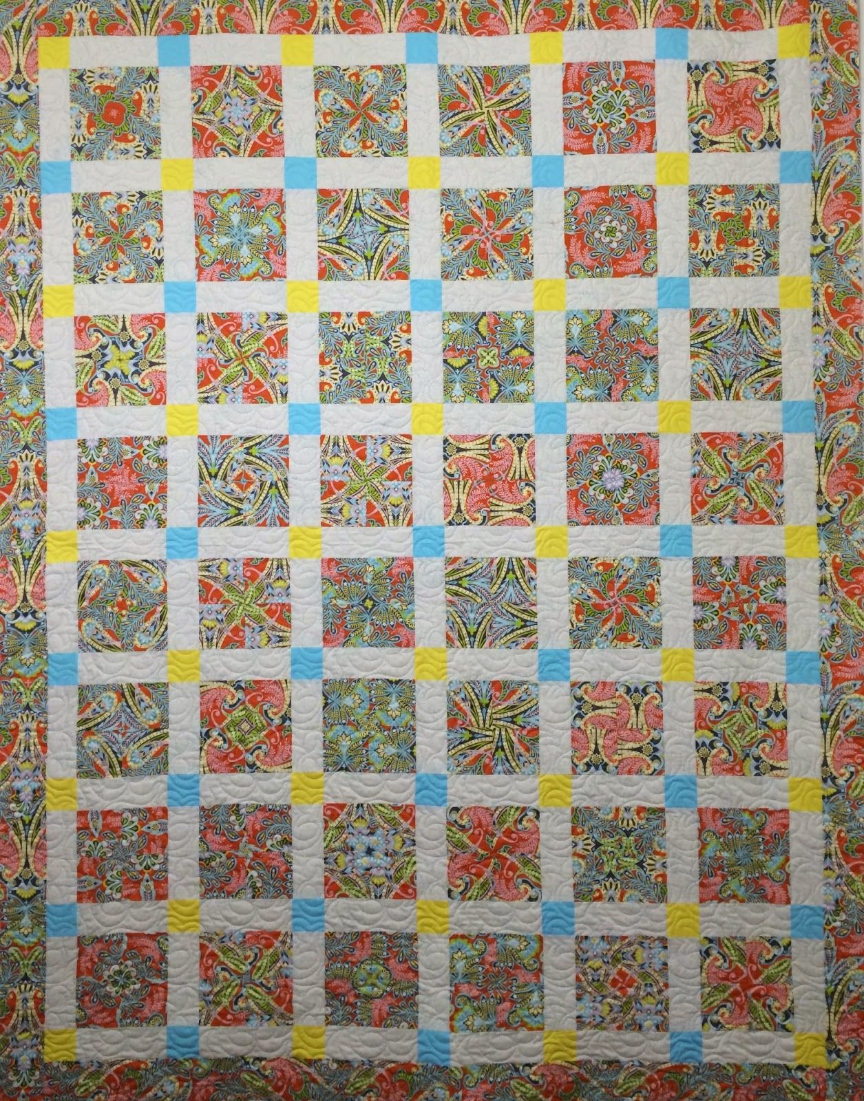 Anna King's 4 Patch Swirl Quilt