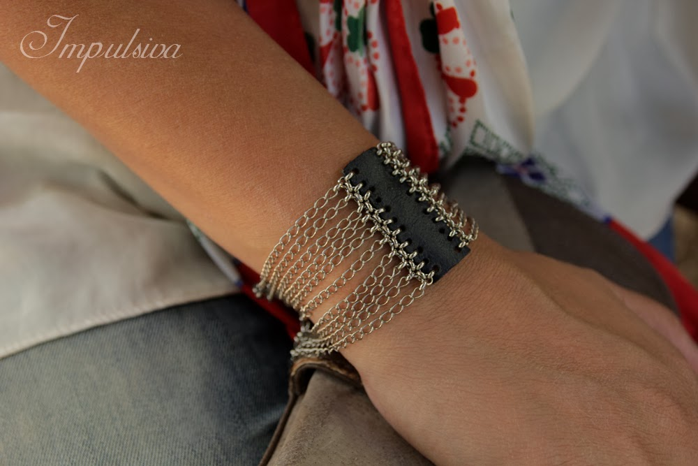 unique handmade jewelry designs by impulsiva silver and leather bracelet for women. Black Bedroom Furniture Sets. Home Design Ideas