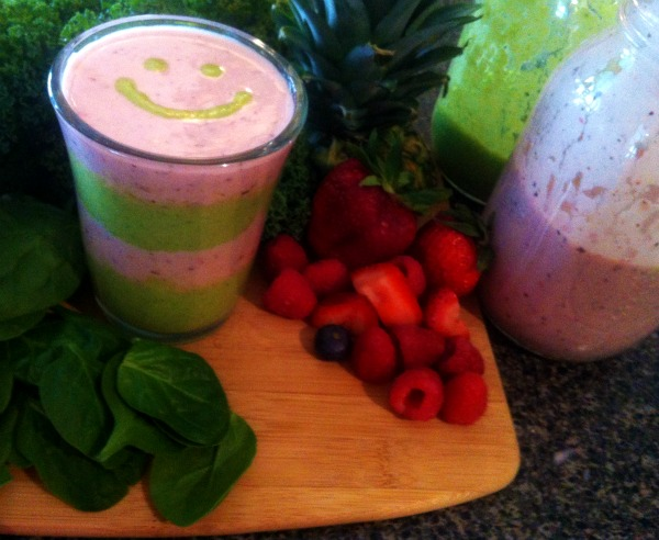 party smoothie, party time smoothie, green smoothie recipe