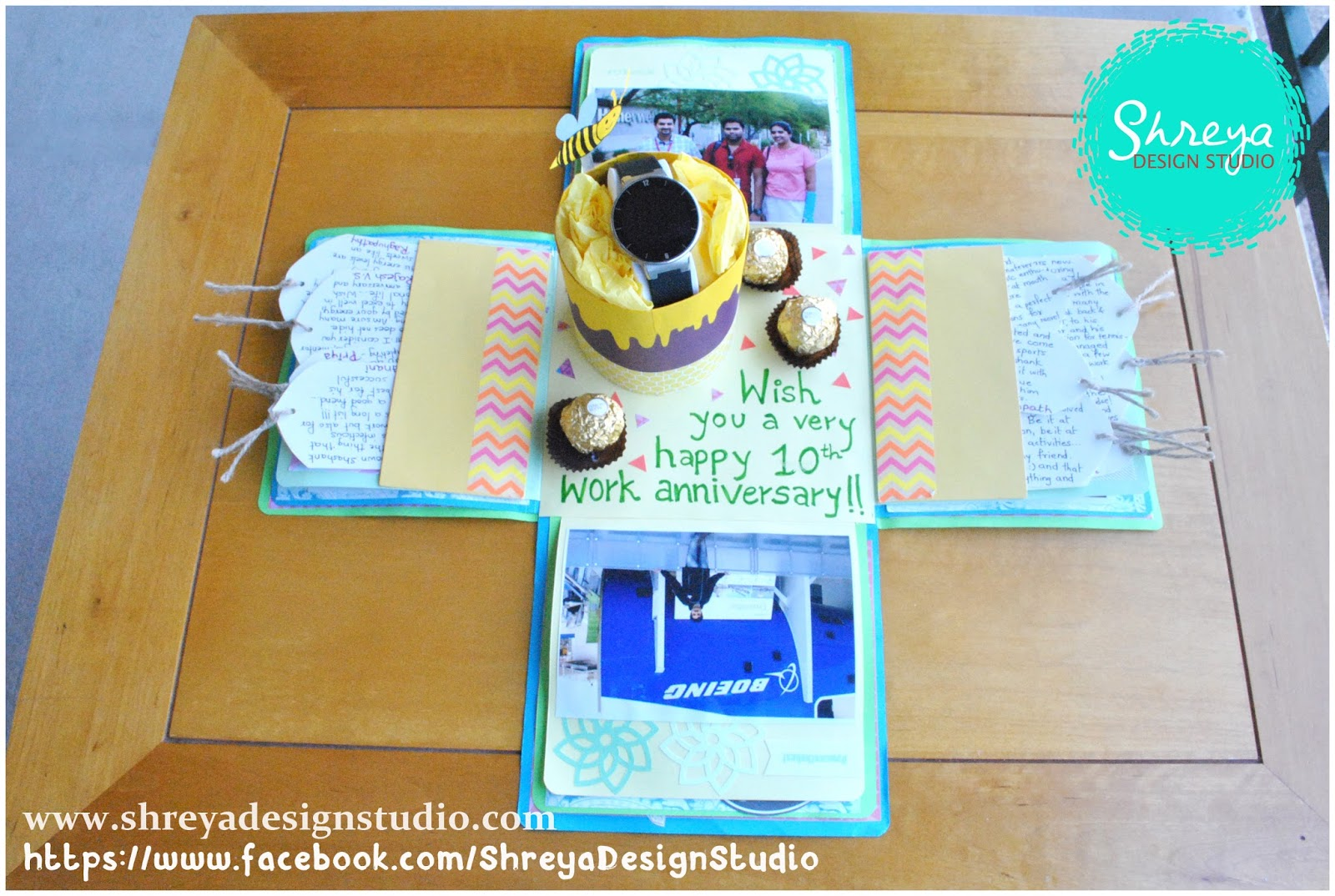 Tutorial how to make a big size explosion box card shreya