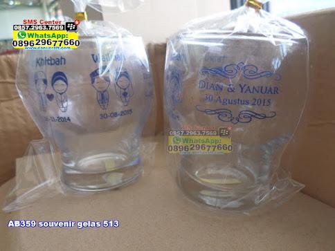 souvenir gelas 513 unik