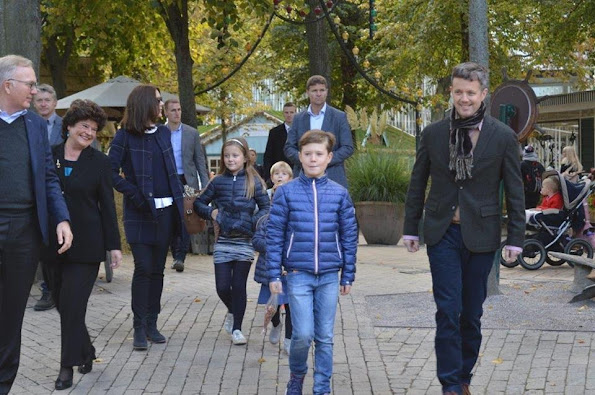 Crown Prince Frederik of Denmark , Crown Princess Mary of Denmark and their children Prince Vincent, Prince Christian, Princess Josephine and Princess Isabella