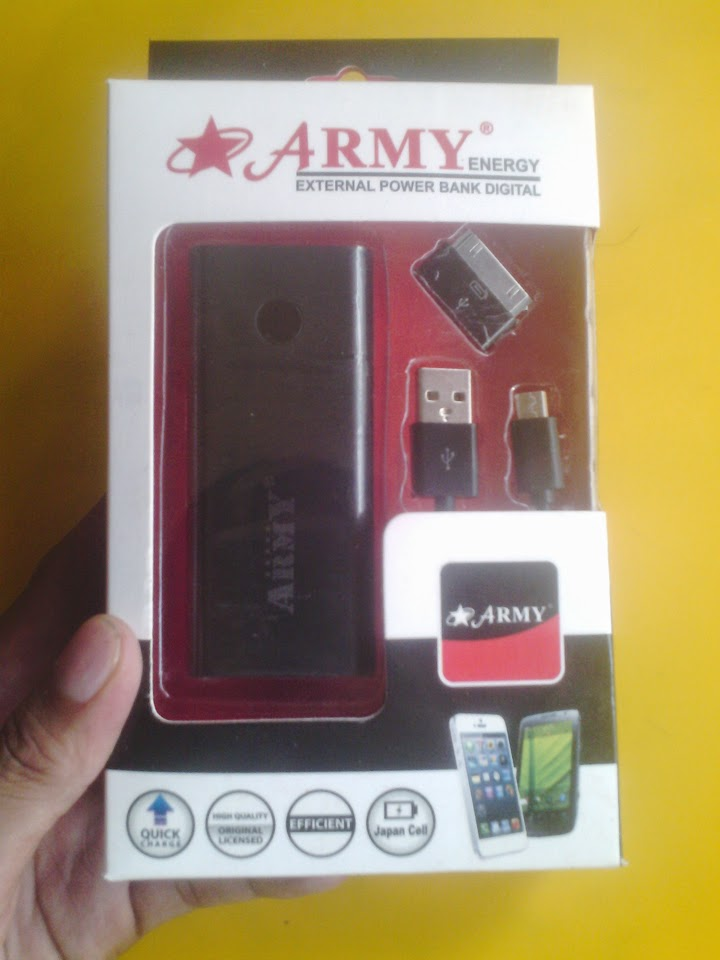 power bank army 5800mah hp android murah