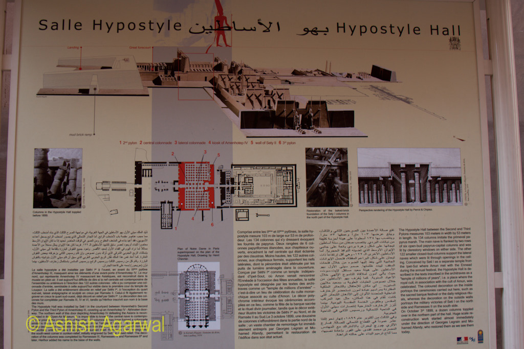 Exhibit of the restoration of the Hypostyle Hall in the Karnak temple