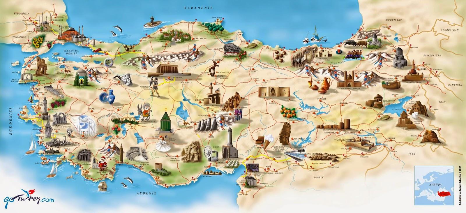 Türkiye Turizm Haritası
