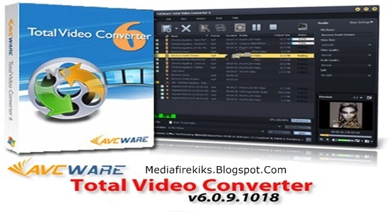 AVCWare Total Video Converter 6.0.9.1018 Portable Full Version Download.