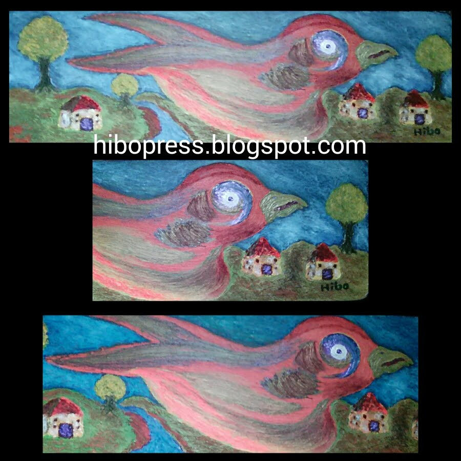 وحة فنية بعنوان : طائر .. للبيع/ A painting entitled: bird .. for sale