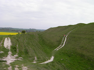 maiden castle dorchester ramparts