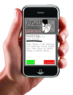 i-voxt, the new voice to text app for the i-phone