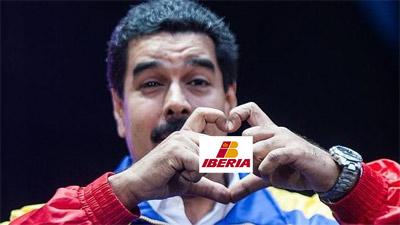 Maduro loves Iberia