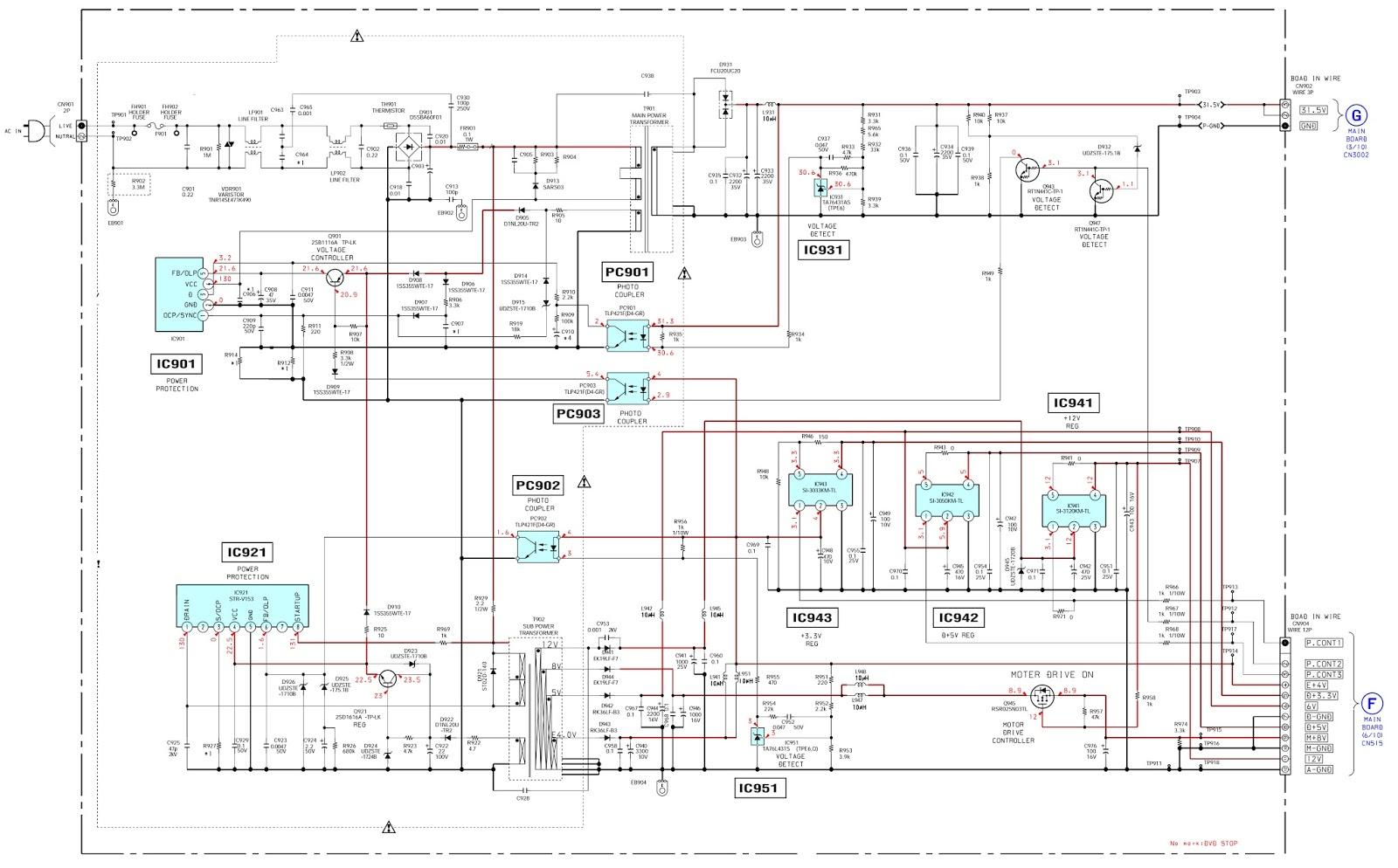 SONY Home Theater System - DAV DZ120K - POWER SUPPLY -SCHEMATIC ...
