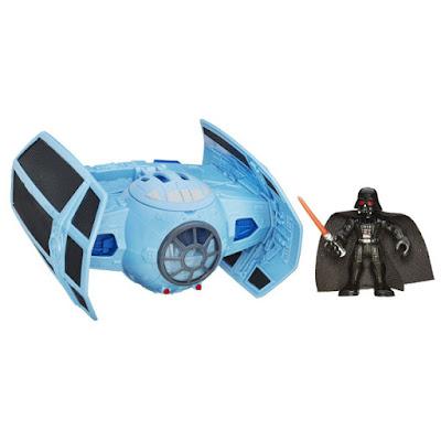 TOYS : JUGUETES - Playskool  Star Wars : Galactic Heroes  Caza TIE avanzado + Figura Darth Vader  TIE Advanced Fighter  Producto Oficial Películas Disney 2015 | Hasbro B3814 | Edad: 3-7 años  Comprar en Amazon España & buy Amazon USA