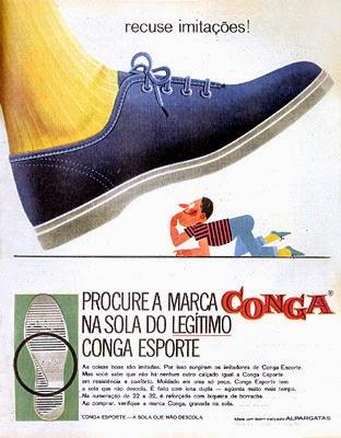 Propaganda do Tênis Conga Esporte - Anos 60