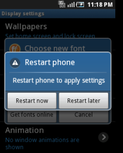 font android