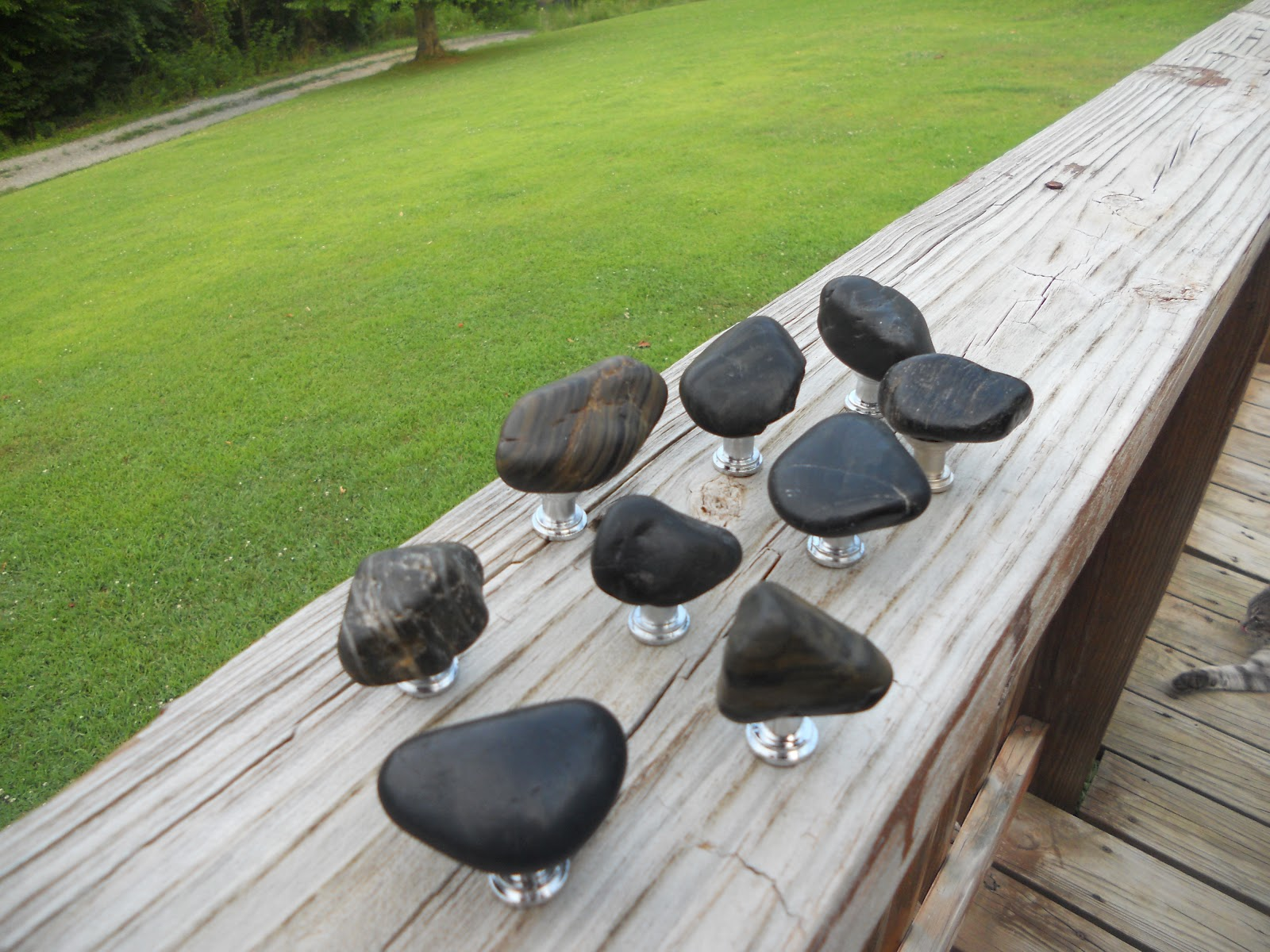 Http://www.river Rock Designs.com/set Of 9 Black Rock Cabinet Knobs/