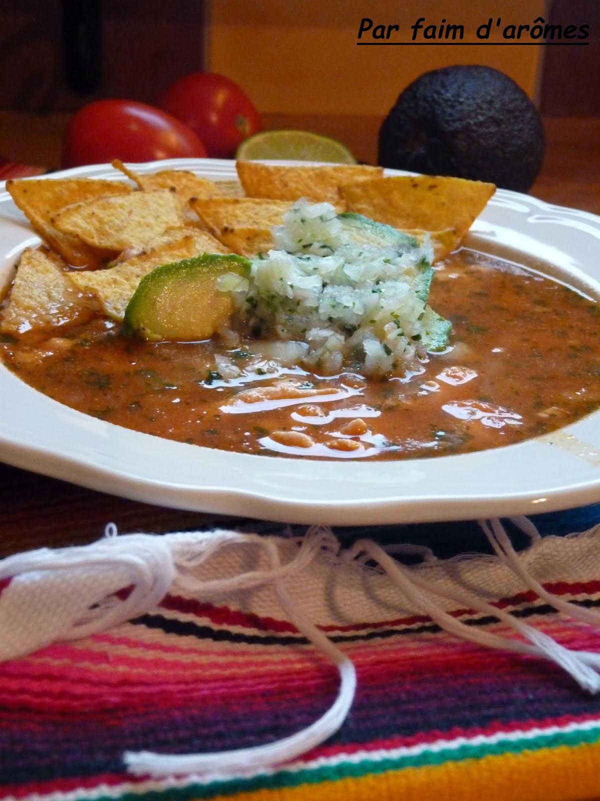 Soupe de tortilla - Sopa de tortillas #Battle food 16