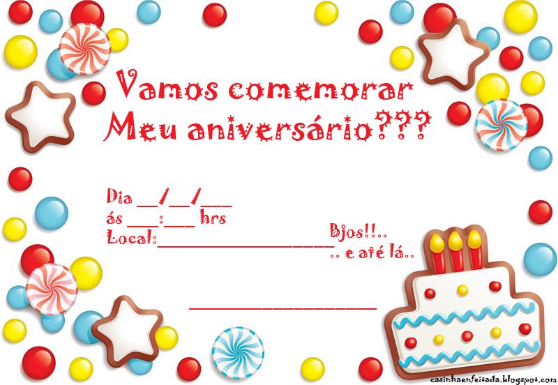 Convites de aniversário para imprimir - Imagui