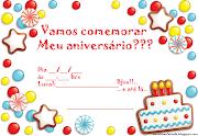 Casinha Enfeitada: Convites de Aniversário Para Imprimir