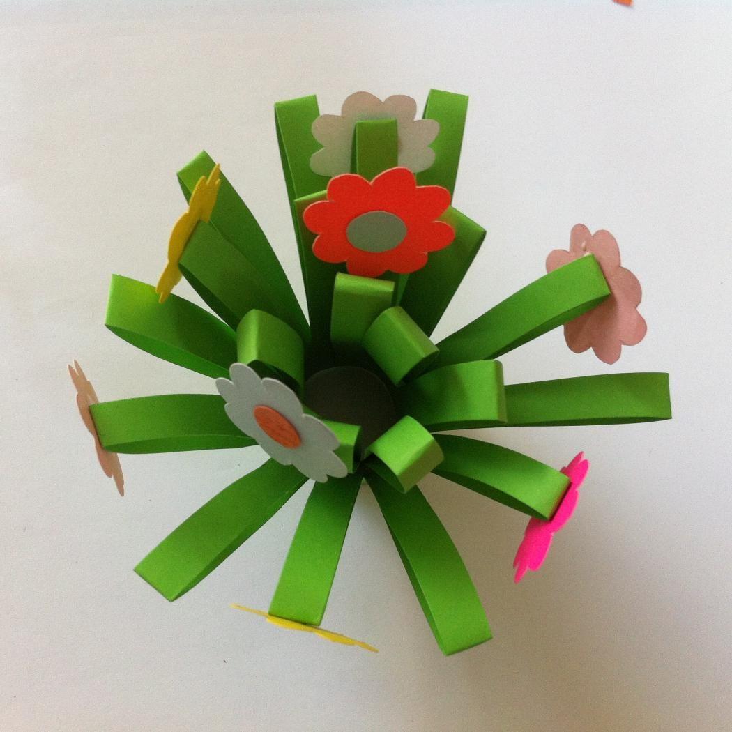 Фото поделки для детей цветок
