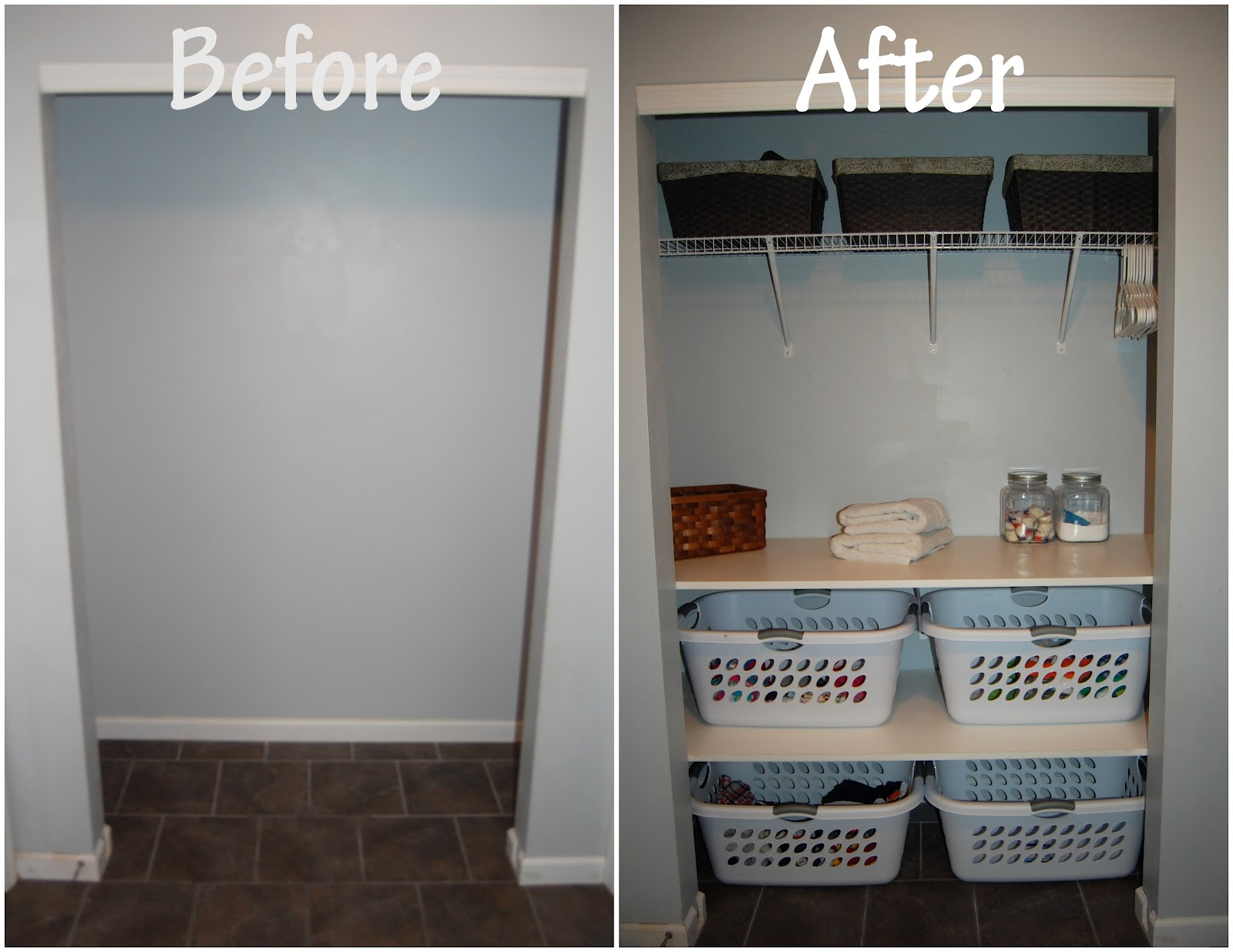 Life with the little r 39 s laundry room closet make over for The make room