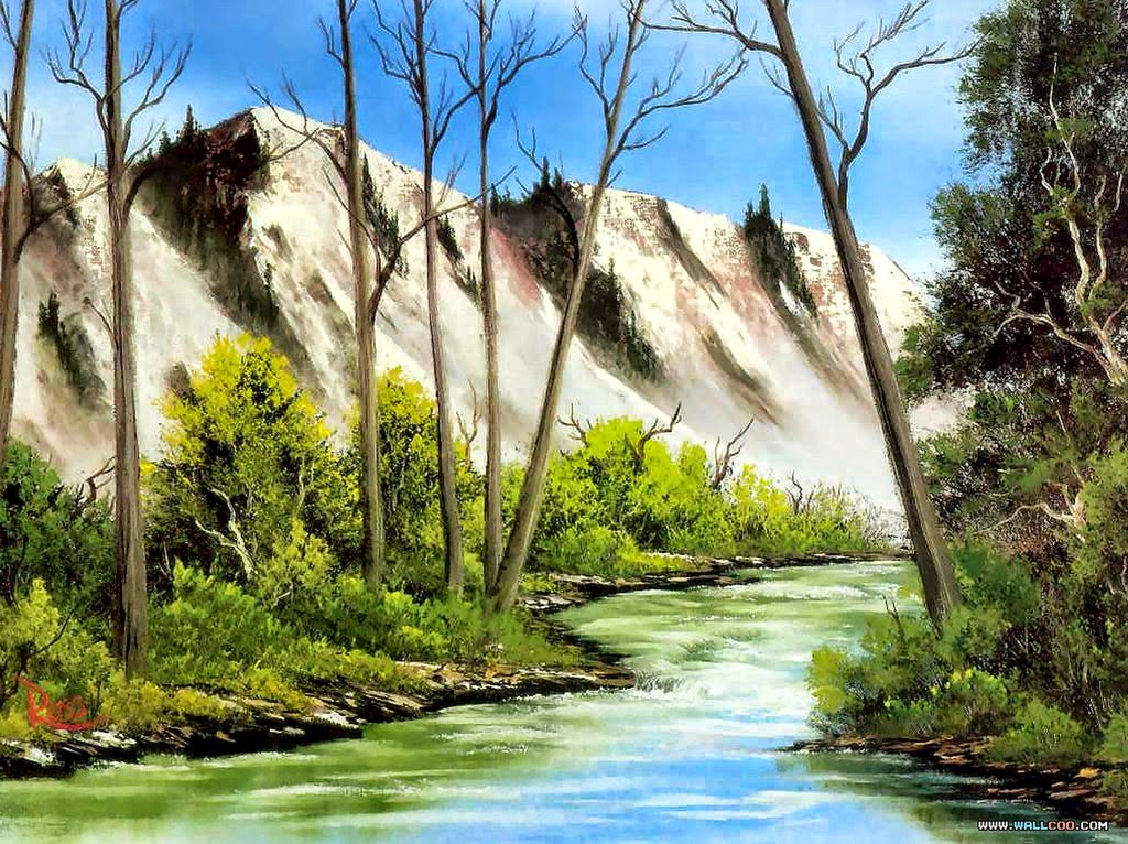 Cuadros modernos pinturas y dibujos fotos de paisajes - Paisajes nevados para pintar ...