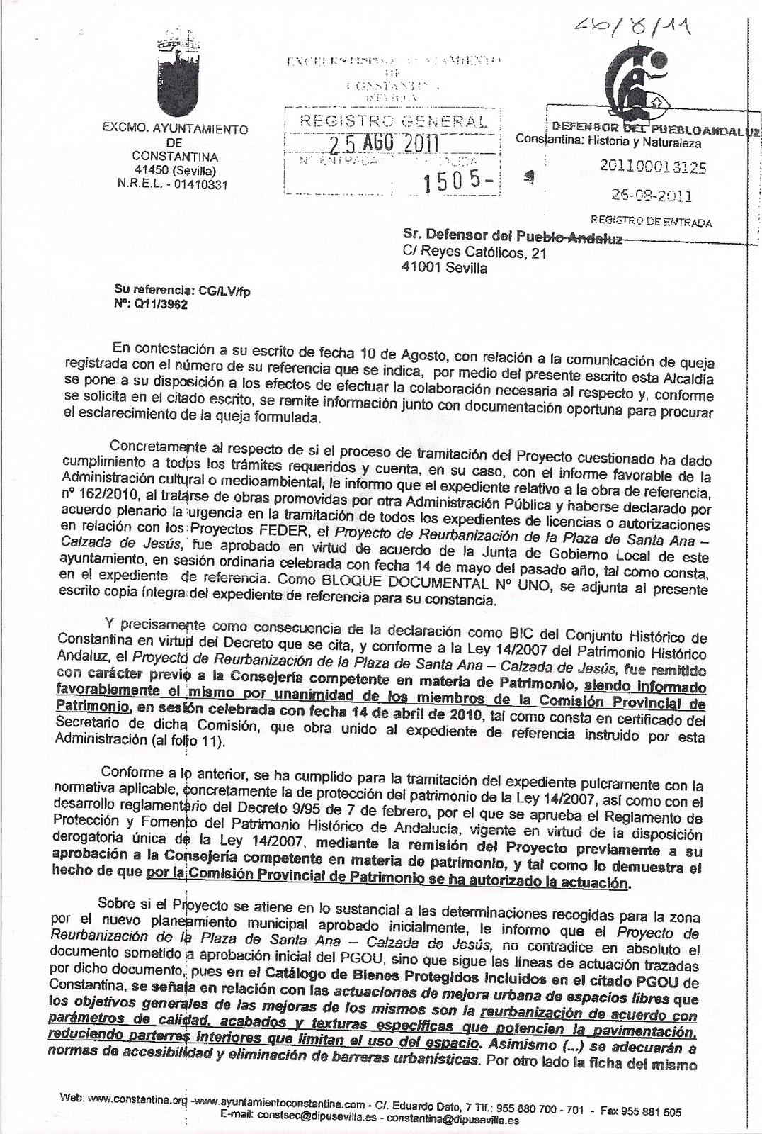 Plataforma ciudadana amigos del jard n de santa ana for Oficina del defensor del pueblo