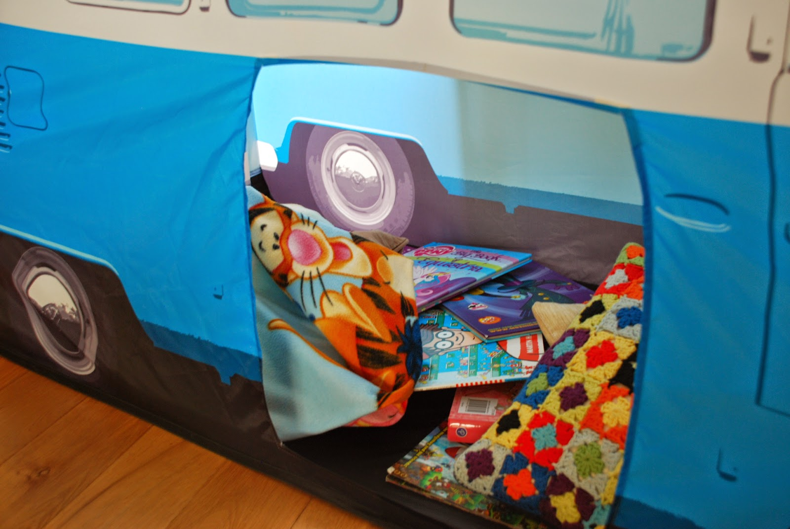 image of inside camper van tent
