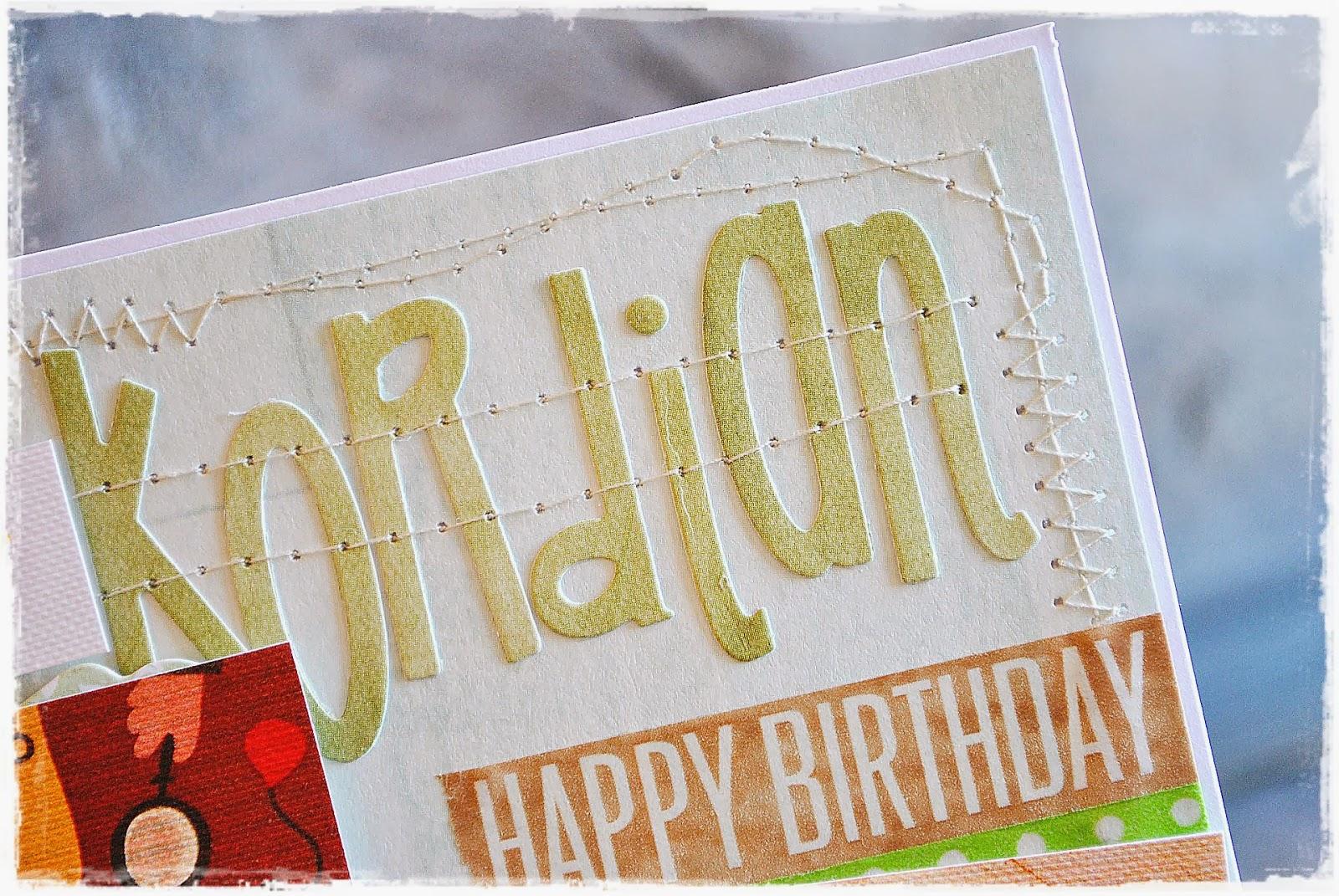 kartka scrapbooking urodzinowa dla dziecka