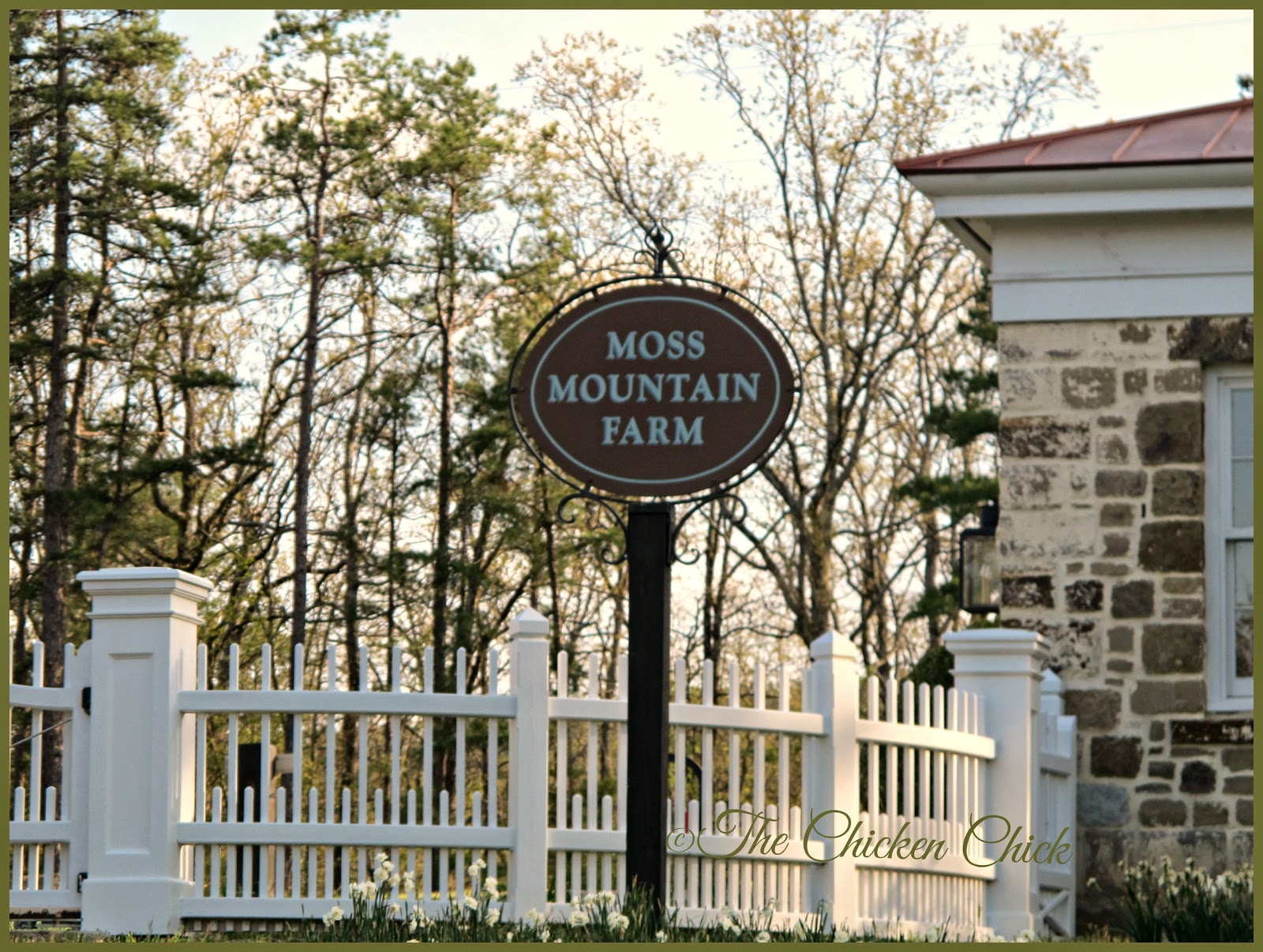 The front gate at P. Allen Smith's Moss Mountain Farm & Garden Home Retreat