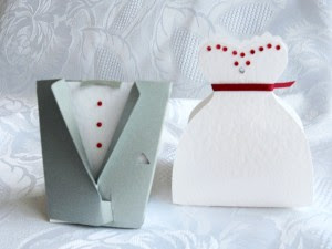 Step by Step to Make Bride and Groom Shaped Boxes.