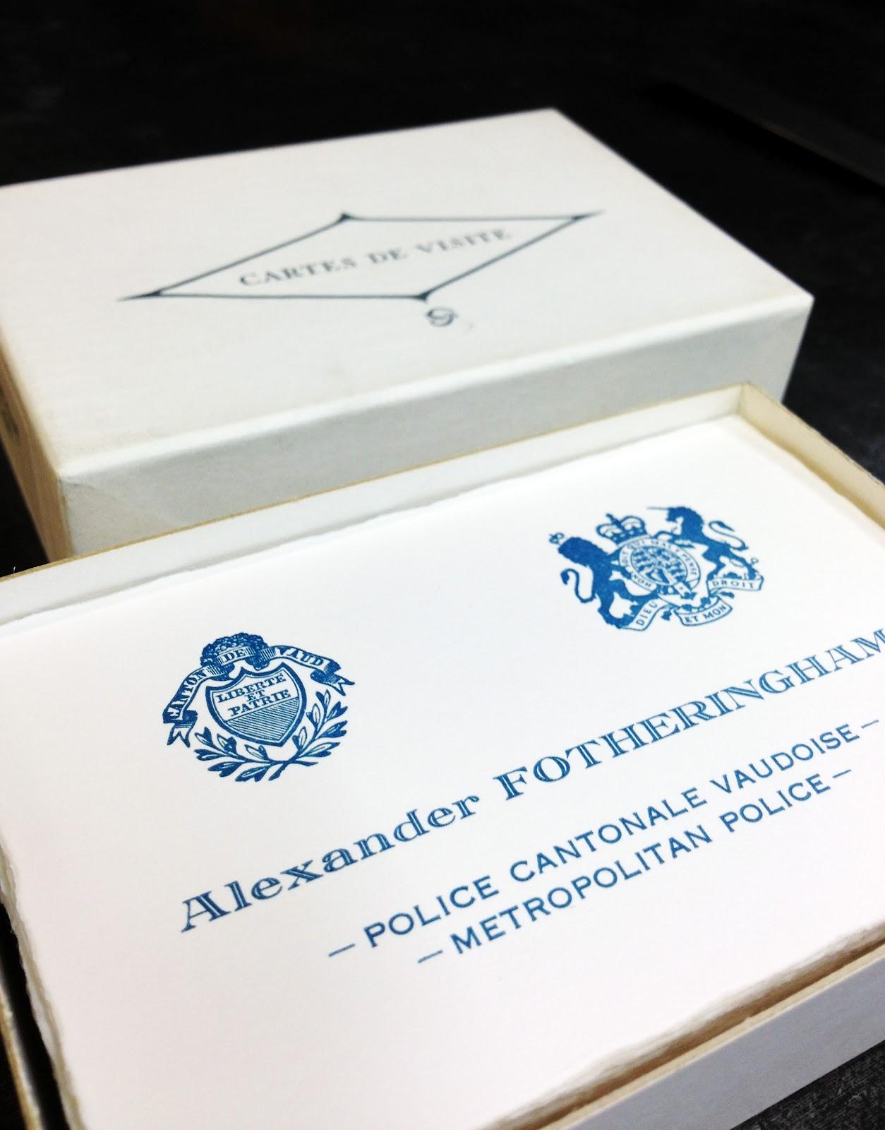 Pour Cette Occasion Et La Premiere Fois Annee Un Petit Souvenir De Leur Passage En Terre Vaudoise Sous Forme Cartes Visite