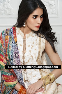 Vaneeza V lawn eid dress collection 2015