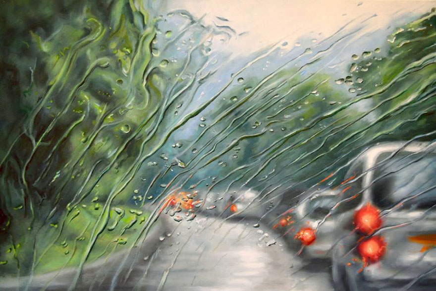 08-Francis-McCrory-Photo-Realistic-Rainy-Windshield-Paintings-www-designstack-co