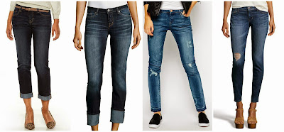 Apt 9 Modern Fit Straight Leg Capri Jeans $29.99 (regular $44.00)  Dex Cuffed Straight Leg Jeans $41.30 (regular $59.00)  Blank NYC Distressed Skinny Jeans with Raw Hem $61.00 (regular $120.00)  David Kahn Brenda Ankle Length Jeans $79.20 (regular $205.00)