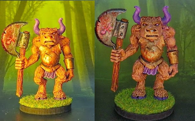Minotaur, Games, Workshop, Marauder, Miniatures, 1990, Aly, Trish, Morrison, Monster, MM42, Foldio, Comparison, review, verdict