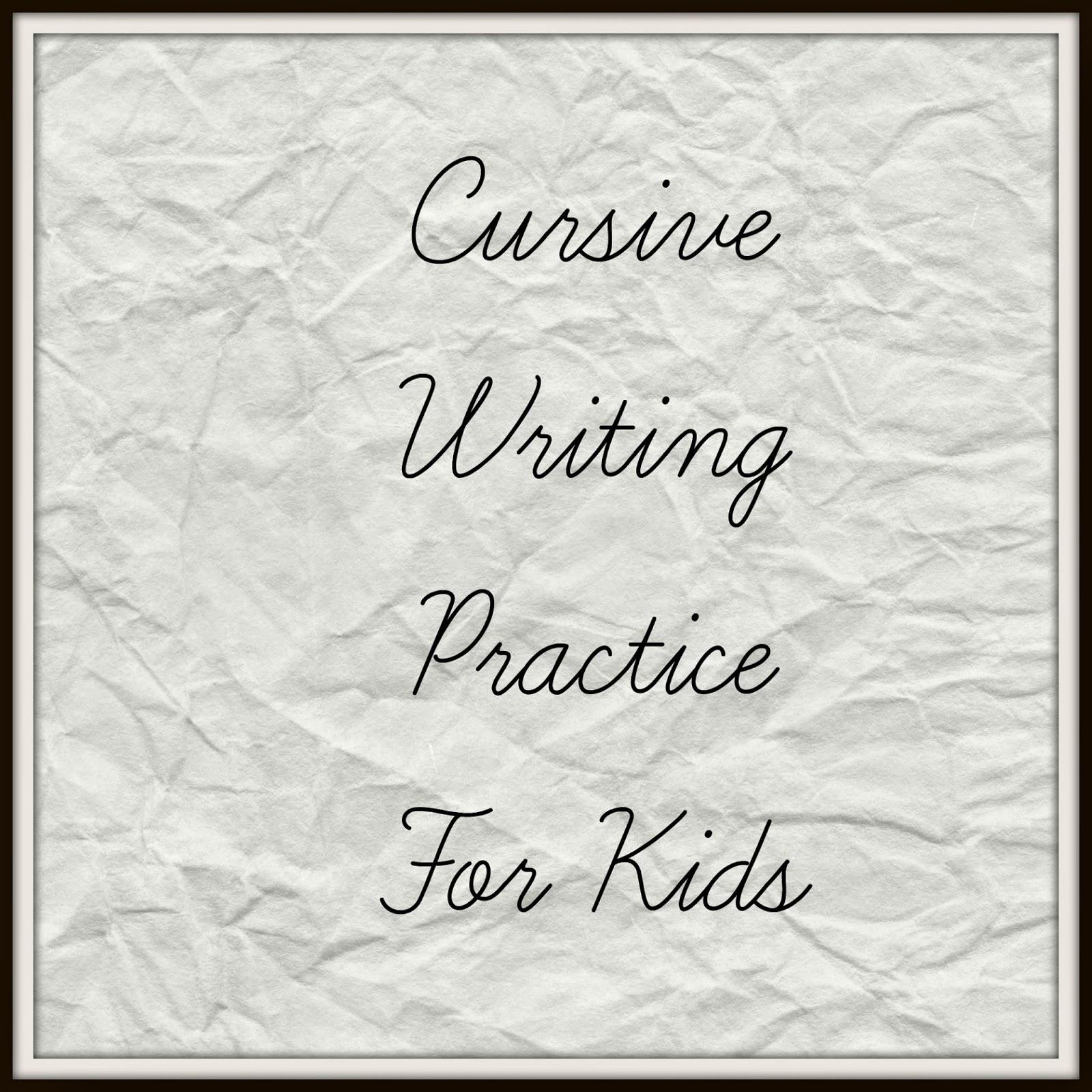 How to write cursive